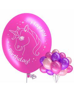 "Motivballons ""Einhorn Happy Birthday"""